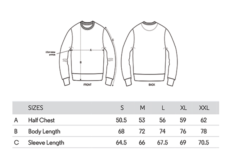 product size guide